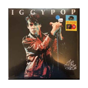 Iggy Pop - Live at the Ritz NYC 1986 // 2 red LP