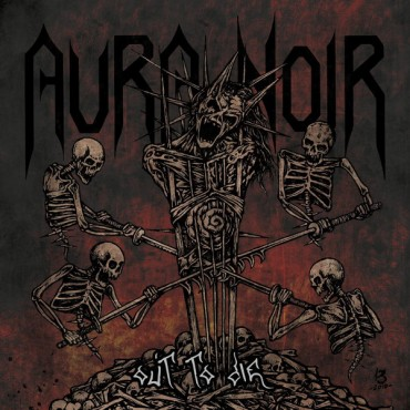 Aura Noir - Out To Die // LP, Limited Edition, Red With Orange And Yellow Speckles