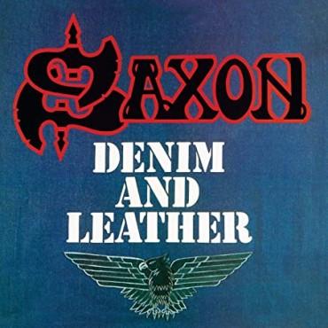 Saxon - Denim And Leather // LP, ltd, splatter (red and black)