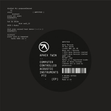 Aphex Twin - Computer Controlled Acoustic Instruments Pt2 // CD neuf